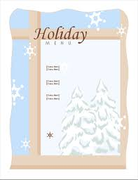 dinner template holiday dinner menu