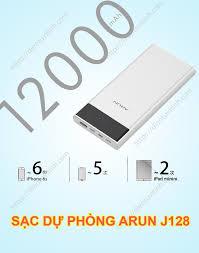 Pin Sạc Dự Phòng Arun J128 12.000mAh Màn LCD