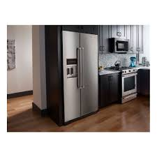 Counter Depth Refrigerator Only Krsc503ess Kitchenaid 227 Cu Ft Counter Depth Side By Side