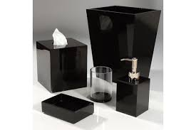 Bathroom Vanity Accessory Sets Ally Black Ice Bath Accessories Contemporary Bath Accessories