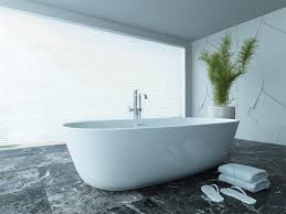 Stand alone tub faucet Soaker Tub Tile Flooring With Stand Alone Tubs And Tub Faucet Also Window Blinds With Freestanding Bathtub And Tall Vase Plus Accent Wall With Glass Walls And Big Furniture Decor And Interior Design Bathroom Tile Flooring With Stand Alone Tubs And Tub Faucet Also