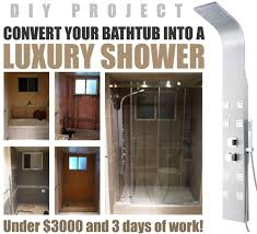 replacing bathtub with walk in shower cost. how to convert a bathtub into luxury walk in shower - great diy project! replacing with cost