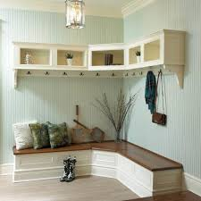 furniture aesthetic corner benches for entryway in white paint color ...
