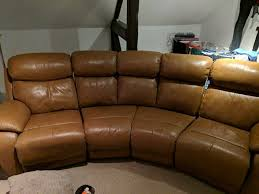 leather sofa daytona 4 seater curved manual double recliner from dfs 18 months old