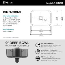 kraus 23 inch undermount single bowl 16 gauge stainless steel kitchen sink with noisedefend 8482