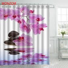 <b>WONZOM Stone Waterproof Shower</b> Curtain Serenity Bathroom ...