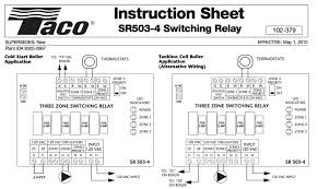 wiringtypical 3zone system wiring diagram val zone valve wiring installation instructions guide to heating taco sr503 three zone switching relay wiring