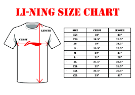 Mens T Shirt Size Chart Mens T Shirt Sizes Chart Rldm