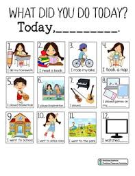 What Did You Do Today Chart