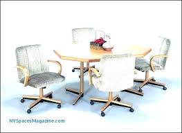 kitchen chairs with wheels oak swivel dining chairs chairs on wheels for dining dining chairs casters