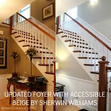 Foyer Wall Colors Updated Foyer With Accessible Beige By Sherwin Williams Interior