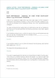 Employee Performance Letter Sample Poor Performance Warning Letter Examples Save Template