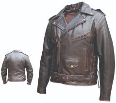 allstate leather inc man s retro brown motorcycle jacket
