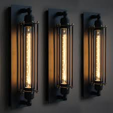 wrought iron outdoor lighting vintage industrial edison wall lamps within exterior plans 9
