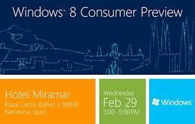 Microsoft Invitation Microsoft To Preview Windows 8 On February 29