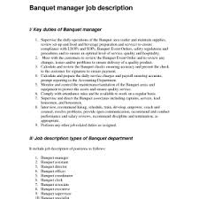 beverage manager job description banquet captain resume investment advisor cover letter sample for a banquet banquet captain resume