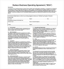 Business Operating Agreement Sample Business Operating Agreement 100 Free Documents Download in 2