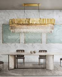 hotel <b>luxury design gold</b> rectangle led <b>crystal</b> chandelier from factory ...
