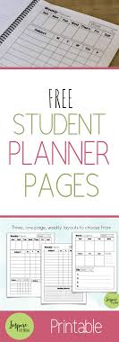 Planner Printables For Students Free Student Planner Pages Build Your Own Inspire The Mom