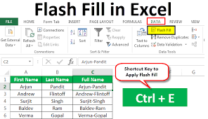 Flash Charts In Excel Flash Fill In Excel How To Use Flash Fill In Excel 2013