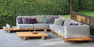 modern outdoor wood sectional sofa set wood outdoor sectional r74