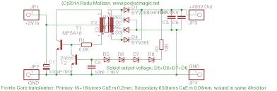 3v to 400v regulated inverter for geiger counters pocketmagic inverter 400v pcb inverter 400v sch inverter circuit