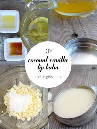 diy coconut vanilla lip balm is easy to make and all natural with this recipe