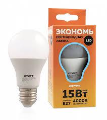 <b>Лампа светодиодная СТАРТ ECO</b> LEDGLSE27 15W40 E27 15Вт ...