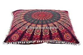 ethnic floor cushions. Fine Ethnic Mandala Square Pillow Cover With Insert PillowcasePillow  ShamsMandala Cushion CoverEthnic Floor CushionBoho Cases Inside Ethnic Cushions E