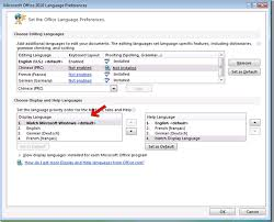 Microsoft Office Example My Language Preferences Office Display And Help Languages