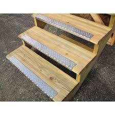 exterior non slip stair treads. stair nosing on wood steps exterior non slip treads