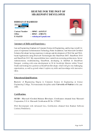 Sharepoint Developer Resume Beauteous HIDDAYAT RESUMESHAREPOINT DEVELOPER
