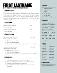 Free Resume Templates For Microsoft Word Free Resume Templates