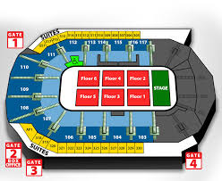 Large Concert Seating The Wfcu Centre Windsor Ontario