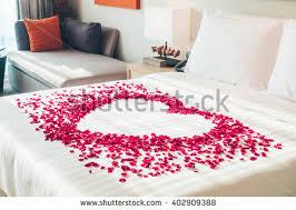 Rose Petals Bed Stock Royalty Free & Vectors