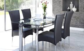 black rectangular glass dining room furniture table and chairs decorating ideas