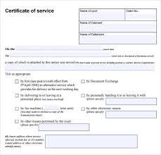 Sample Certificate Of Service Template Classy 48 Certificate Of Service Templates To Download For Free Sample