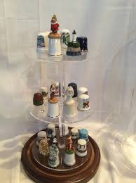 lg glass display dome for tall collectible thimbles
