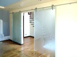 frosted glass barn doors with view larger image etched sliding door bathroom