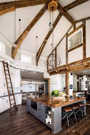 Residential Cathedral Ceiling Lighting 25 Stunning Double Height Kitchen Ideas