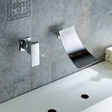 Waterfall Bathtub Designs Enchanting Chrome Finish Waterfall Bathtub Faucet Wall