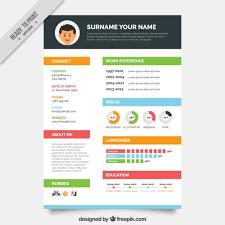 Resume Template 7 Creative Online Cv For Web Graphic Designer