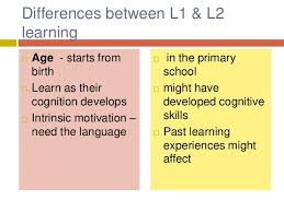 L1 And L2 Differences Between L1 L2 Learning