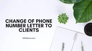 As some of you may have heard, albert mcgillis will no longer be with our company as of august 15. Change Of Phone Number Letter To Clients Free Letter Templates