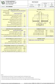 Through Bolt Design In Concrete Holding Down Bolt Design Spreadsheet To Bs 5950 Bs 8110 And