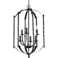 greyson collection 6 light black chandelier
