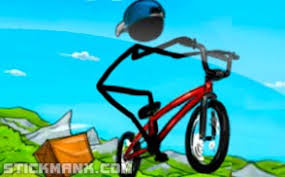 Play Stickman Downhill Bike Racing Game