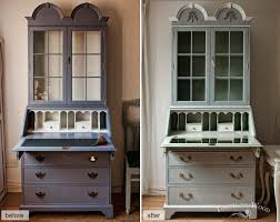shabby chic furniture makeover bureau with mirror