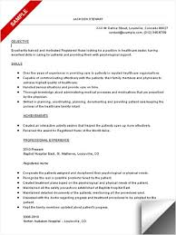 Nurse Resume Objective Pusatkroto Com