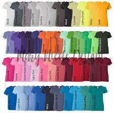 Gildan Color Chart 2019 Every Color Digital File Shirt Color Chart Gildan 500l